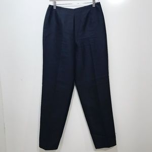 Talbots Size 6 Silk Pants Solid Black Ankle Length